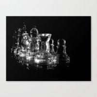 chess Canvas Prints featuring CHESS by  Monochromania/Anne Seltmann