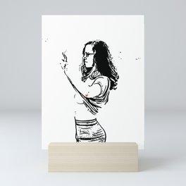 B&W-Girl Mini Art Print
