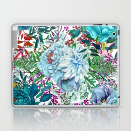 Teal Floral Collage Laptop & iPad Skin