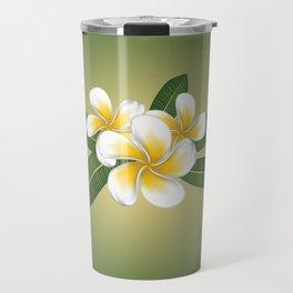 White plumeria Travel Mug