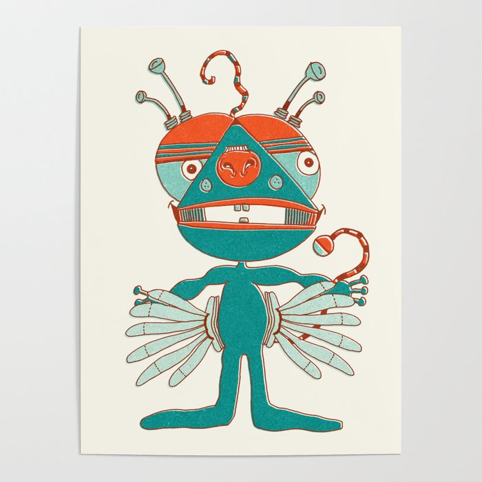 Robot Alien Monster No 068 Poster