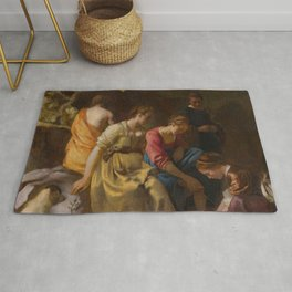 "Johannes Vermeer ""Diana and her Companions"" Rug"