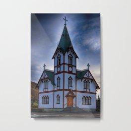 Husavik Church Iceland Metal Print