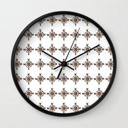Wheel - Compass Wall Clock