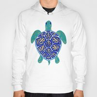 hearts Hoodies featuring Sea Turtle by Cat Coquillette