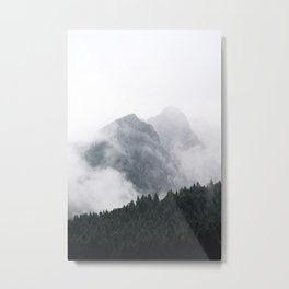 Foggy Mountain Forest Metal Print