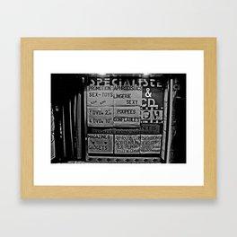 sexshop Framed Art Print