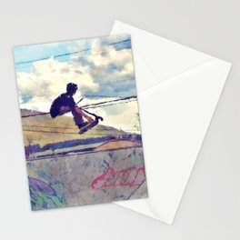 Graffitti Glide Stunt Scooter Sports Artwork Stationery Cards