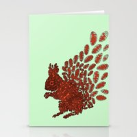 squirrel Stationery Cards featuring Squirrel by Julia Kisselmann