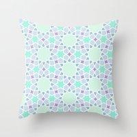 arabic Throw Pillows featuring Arabic pattern by tuditees