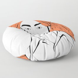 Bhagat Singh #IpledgeOrange Floor Pillow