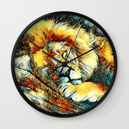 AnimalArt_Lion_20170604_by_JAMColorsSpecial Wall Clock