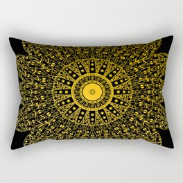 Foliage (Black+GoldBrushed) Rectangular Pillow