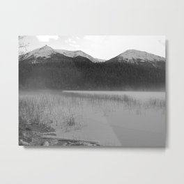 Cabin Lake Metal Print