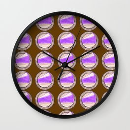 Purple cake on thanksgiving Wall Clock