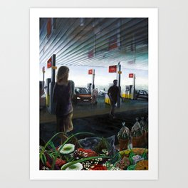 Gasstation Art Print