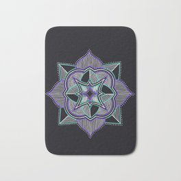 Teal and Purple Mandala Bath Mat
