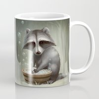 raccoon Mugs featuring Raccoon by Antracit