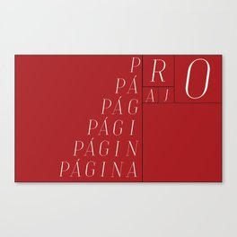 RED PAGE Canvas Print