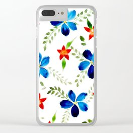 Breezy florals Clear iPhone Case
