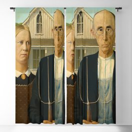 American Gothic, 1930 by Grant Wood Blackout Curtain