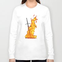 dark souls Long Sleeve T-shirts featuring Bonfire ( Dark Souls II ) by Renars