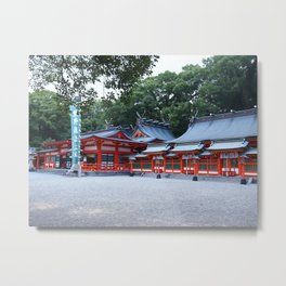 Hayatama Shrine Metal Print