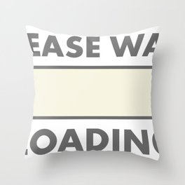 fart loading computer Throw Pillow