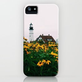 Portland Headlight and Flowers iPhone Case
