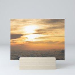 charming sunset in el salvador san salvador Mini Art Print