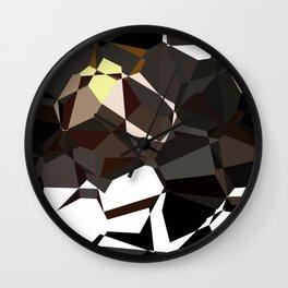 Geometic Greys Wall Clock