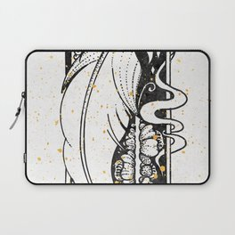 Wing Feather Inktober :: Bronzed Angels Barefoot Laptop Sleeve