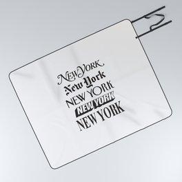 I Heart New York City Black and White New York Poster I Love NYC Design black-white home wall decor Picnic Blanket