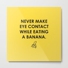 Eating a Banana Metal Print