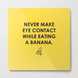 Eating a Banana Metal Print
