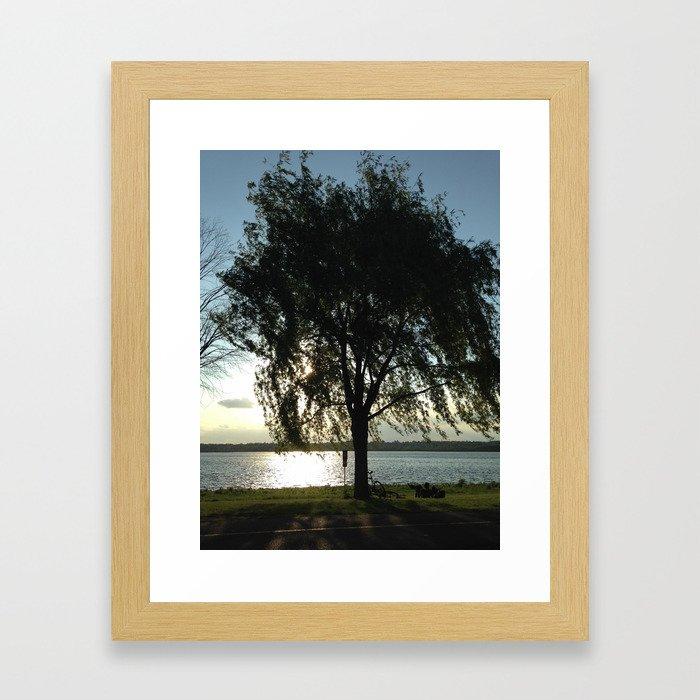 Tree & Bikes Framed Art Print