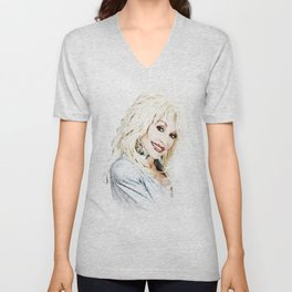 Dolly Parton - Pop Art Unisex V-Neck
