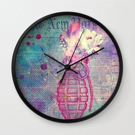 Flower Boom Wall Clock