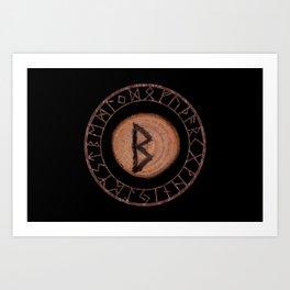 Berkano Elder Futhark Rune secrecy, silence, safety, mature wisdom, dependence, female fertility Art Print
