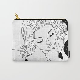 Girl in Circle with Sheet Carry-All Pouch
