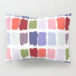 Artistic colorful watercolor paint brushstrokes palette Pillow Sham