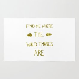 Wild Things - Gold Rug