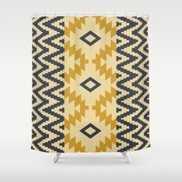 Ion in Gold Shower Curtain