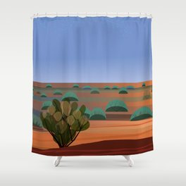 Twilight in the Desert Shower Curtain