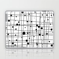 Woven Web black and white Laptop & iPad Skin