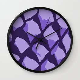 Purple Gumdrops Wall Clock