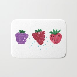 Felt Pen berries drawing Bath Mat