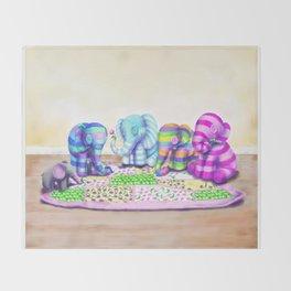 Elephant's Brunch Throw Blanket