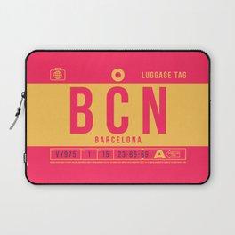 Luggage Tag B - BCN Barcelona El Prat Spain Laptop Sleeve