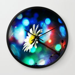 Daisy Pop Art Wall Clock